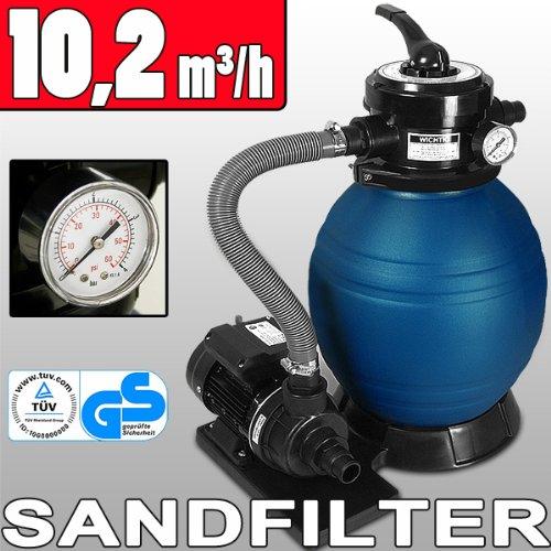 Pompe filtre sable et particule 10200 l h avec sa pompe for Pompe piscine sable