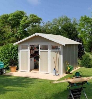 Abri de jardin en bois avec remise aachen 6 46m jardin boutique - Abri de jardin utility la rochelle ...