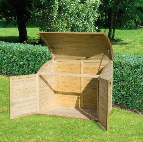 Coffre de rangement pour le jardin en bois topaze 1000 l for Boutique jardin