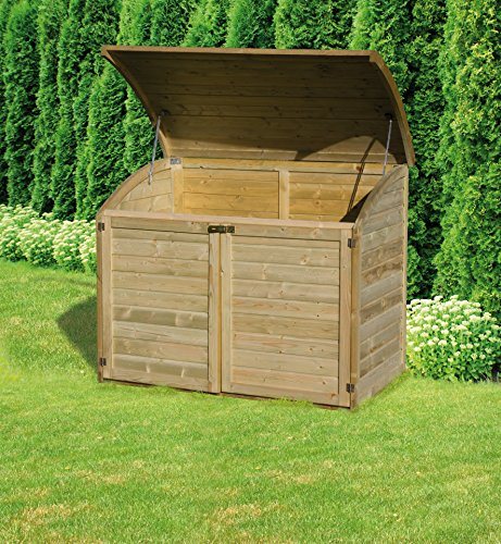 coffre de rangement pour le jardin en bois topaze 1000 l. Black Bedroom Furniture Sets. Home Design Ideas