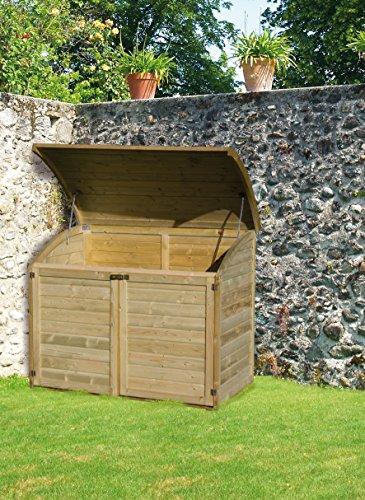 coffre de rangement pour le jardin en bois topaze 1000 l. Black Bedroom Furniture Sets. Home Design Ideas