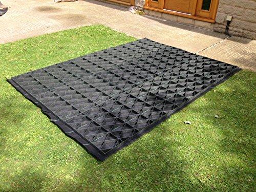 kit dalle pour abri de jardin cologique 183 x 122 cm avec membrane de support tr s r sistante. Black Bedroom Furniture Sets. Home Design Ideas