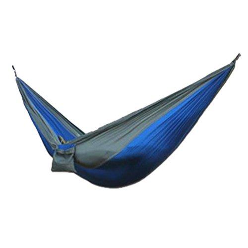 qiufeng hamac suspendu portable pour 1 2 personnes en toile de parachute tente lit de camping 2. Black Bedroom Furniture Sets. Home Design Ideas