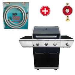product barbecue gaz memphis avec tuyau et detendeur butane oogarden france