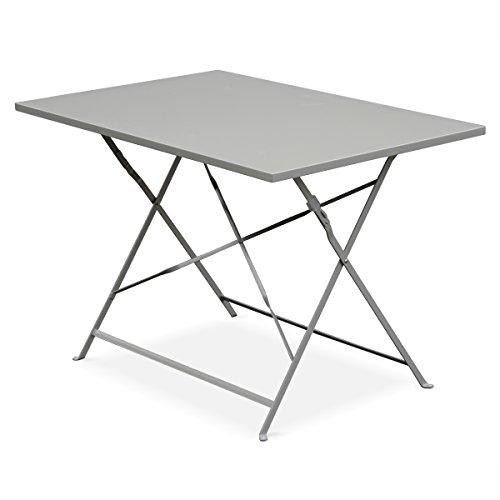 alice 39 s garden salon de jardin bistrot pliable emilia rectangulaire gris taupe table. Black Bedroom Furniture Sets. Home Design Ideas