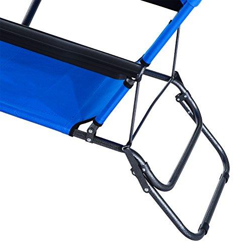 chaise longue transat 2 en 1 pliant inclinable multiposition bleu 44 jardin boutique. Black Bedroom Furniture Sets. Home Design Ideas