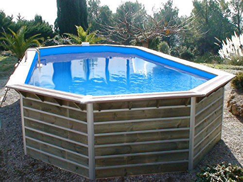 Piscine bois waterclip calayan 890x420x129 cm hors sol for Destockage piscine bois