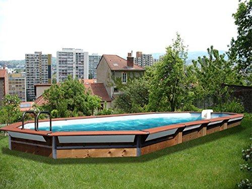 Piscine Bois Waterclip Kythnos 890x420x147 Cm Hors Sol