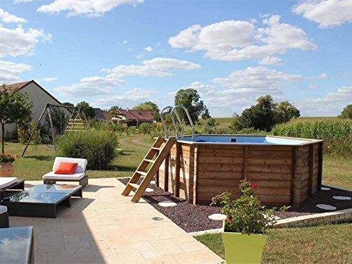 Sunbay piscine bois vanille 4 12 m x h 1 19 m jardin for Piscine venelle