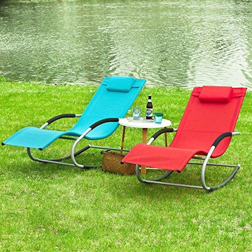sobuy ogs28 r fauteuil bascule chaise longue transat de jardin avec repose pieds bain de. Black Bedroom Furniture Sets. Home Design Ideas