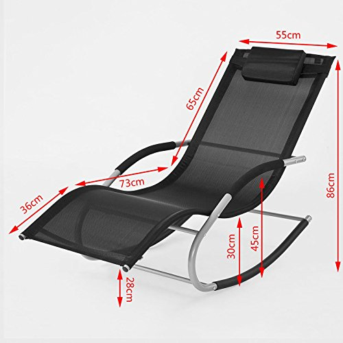 sobuy ogs28 sch fauteuil bascule transat de jardin avec. Black Bedroom Furniture Sets. Home Design Ideas