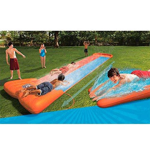 Tapis de glisse xxl g ant double toboggan eau piscine for Piscine hors sol geant casino