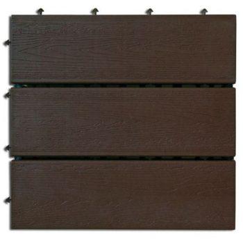 6x Carreau en bois 30x30cm modulaire clipsable 2013543 - AUTRES 34.90 ManoMano