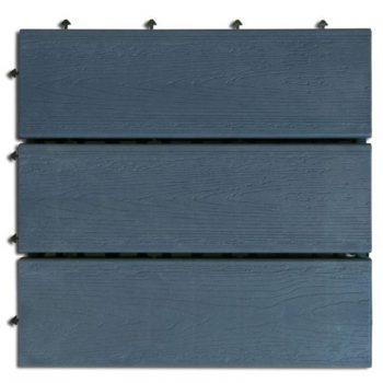 6x Dalle de terrasse en bois 30x30 cm modulaire emboîtable 2013544 - AUTRES 24.43 ManoMano