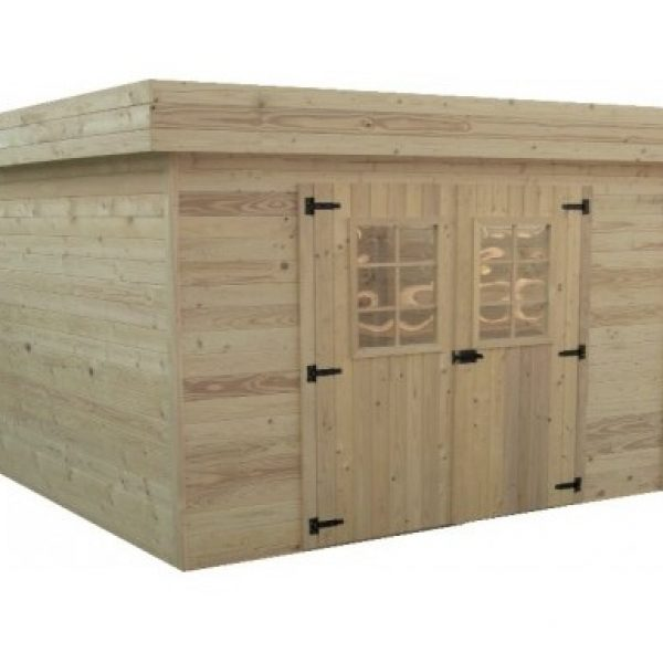 jardin abri de jardin toit plat style moderne 14 75m. Black Bedroom Furniture Sets. Home Design Ideas