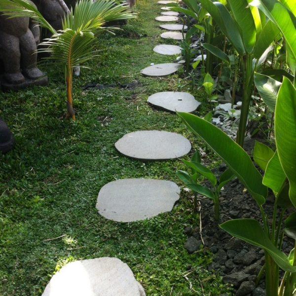 5 Pas japonais en pierre galet de rivière 50-55cm - WANDA-COLLECTION 89.00 ManoMano