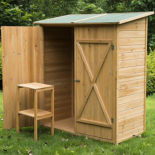 homcom armoire de jardin abri de jardin remise pour outils 140l x 75l x 165h cm 2 portes verrou. Black Bedroom Furniture Sets. Home Design Ideas