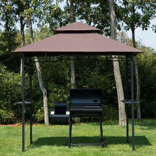homcom pavillon abri pour barbecue bbq jardin gazebo. Black Bedroom Furniture Sets. Home Design Ideas