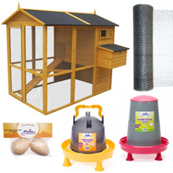 Kit complet poulailler Chicken Duplex OOGarden Poulailler Basse-cour