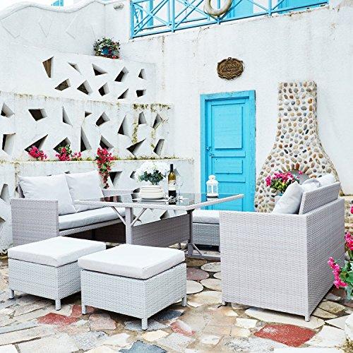 Concept-Usine Nouméa Gris/Blanc : salon de jardin encastrable en ...