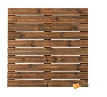 1 Dalle de terrasse en bois teinté motif droit 100 - BURGER JARDIPOLYS 26.99 ManoMano