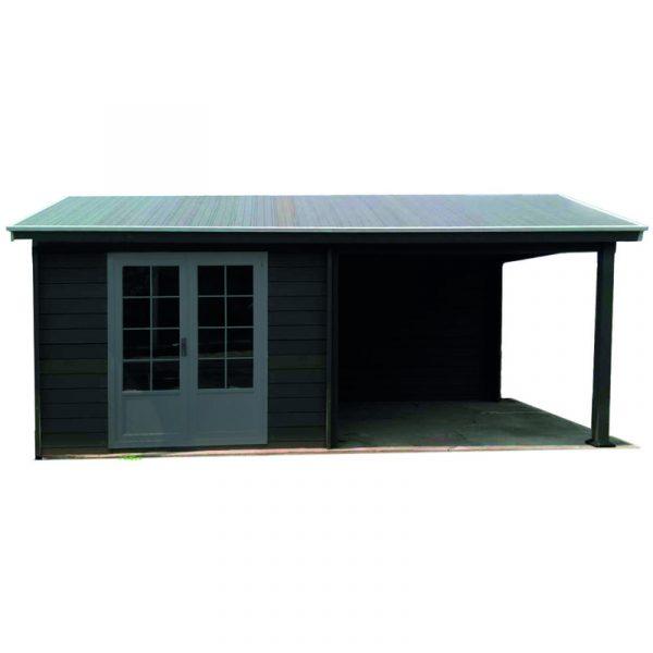 jardin abri de jardin pool house composite 6 x 3 avec. Black Bedroom Furniture Sets. Home Design Ideas