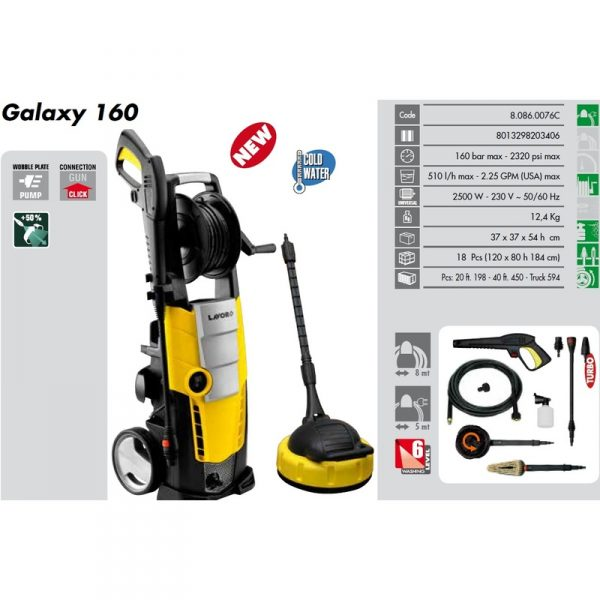 Lavor nettoyeur haute pression 160 bars 2500w 510l h - Nettoyeur haute pression 160 bars ...
