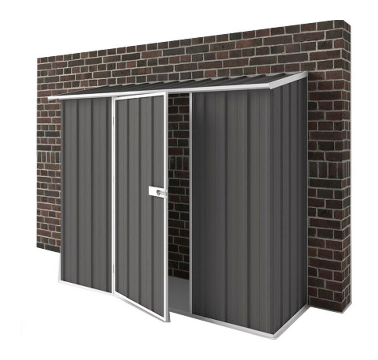 Jardin easy shed abri m tal compact gris ardoise 1 for Simply sheds online