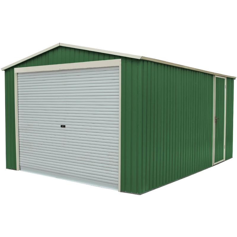 jardin habit box abri garage en t le galvanis e jardin ext rieur 350x574xh245cm garageplus. Black Bedroom Furniture Sets. Home Design Ideas