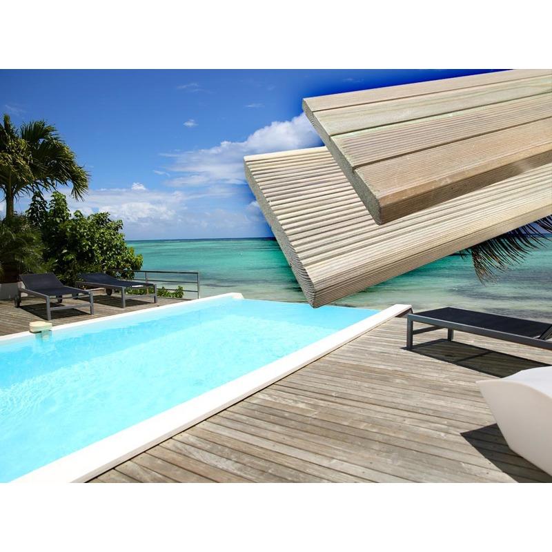 lames de terrasse en bois autoclave habitat et. Black Bedroom Furniture Sets. Home Design Ideas
